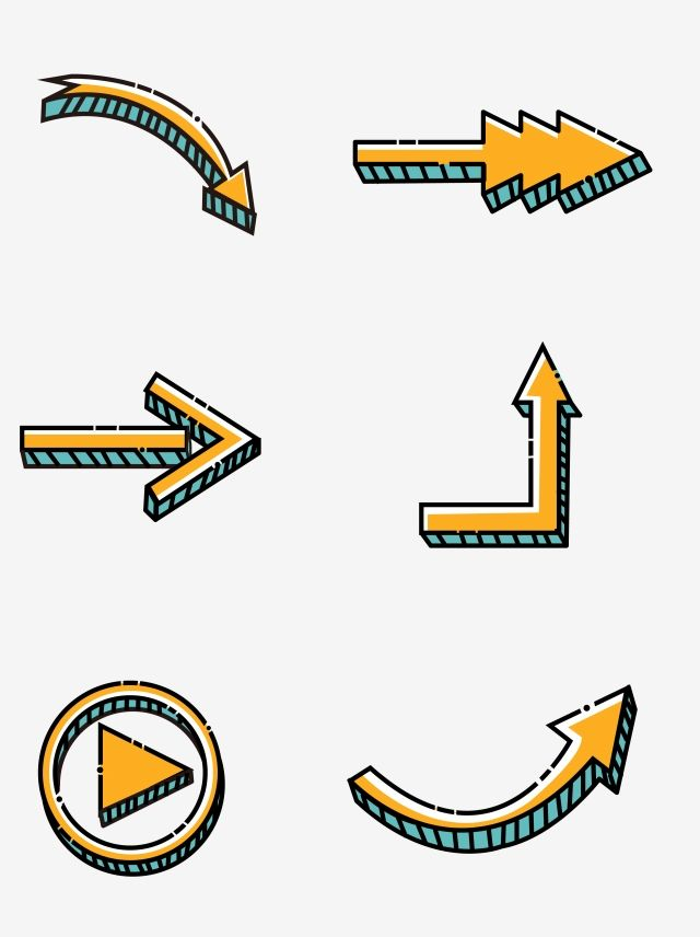 Simple Cute Cartoon Arrow, Arrow, Cartoon Arrow, Creative.