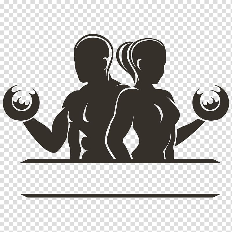 Male and female silhouette , Physical fitness Physical.