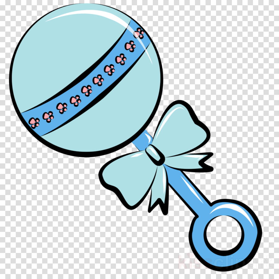 Baby Boy Rattle Clipart.