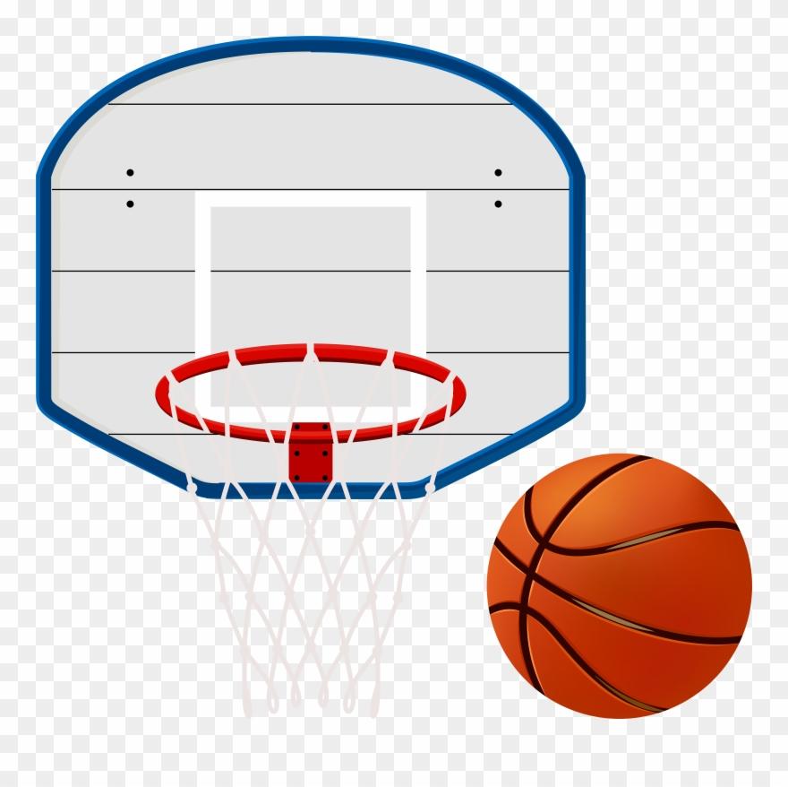 Basketball Hoop Clip Art Image.