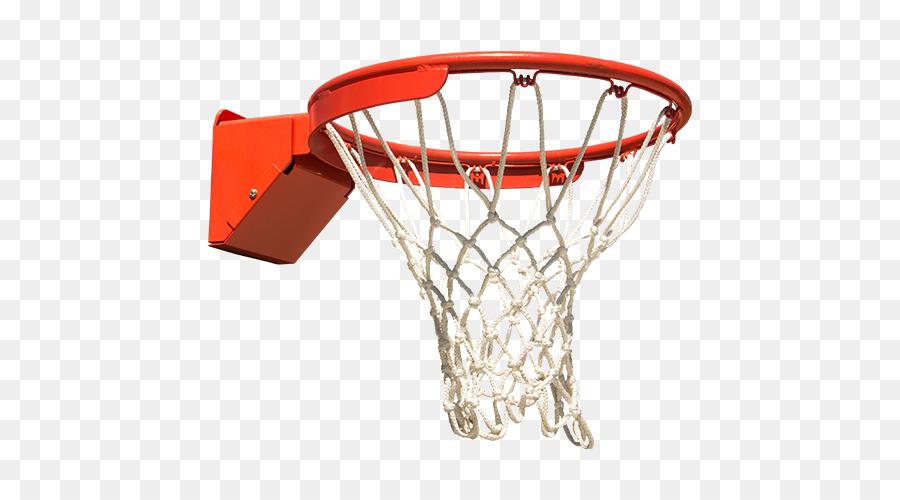 Transparent background basketball net.