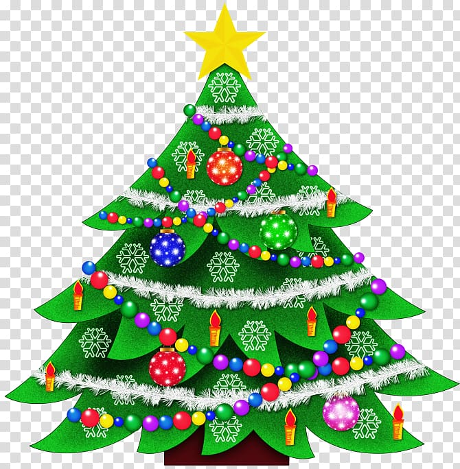 Christmas Tree , Christmas illustration transparent.