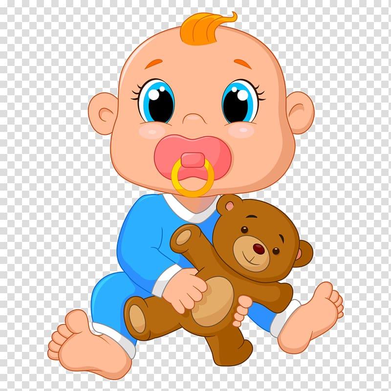 Infant Cartoon Pacifier Illustration, Cartoon Baby.