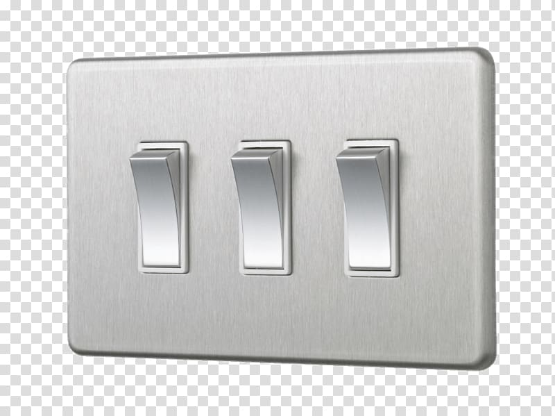 White light switch, Light Switch Triple transparent.
