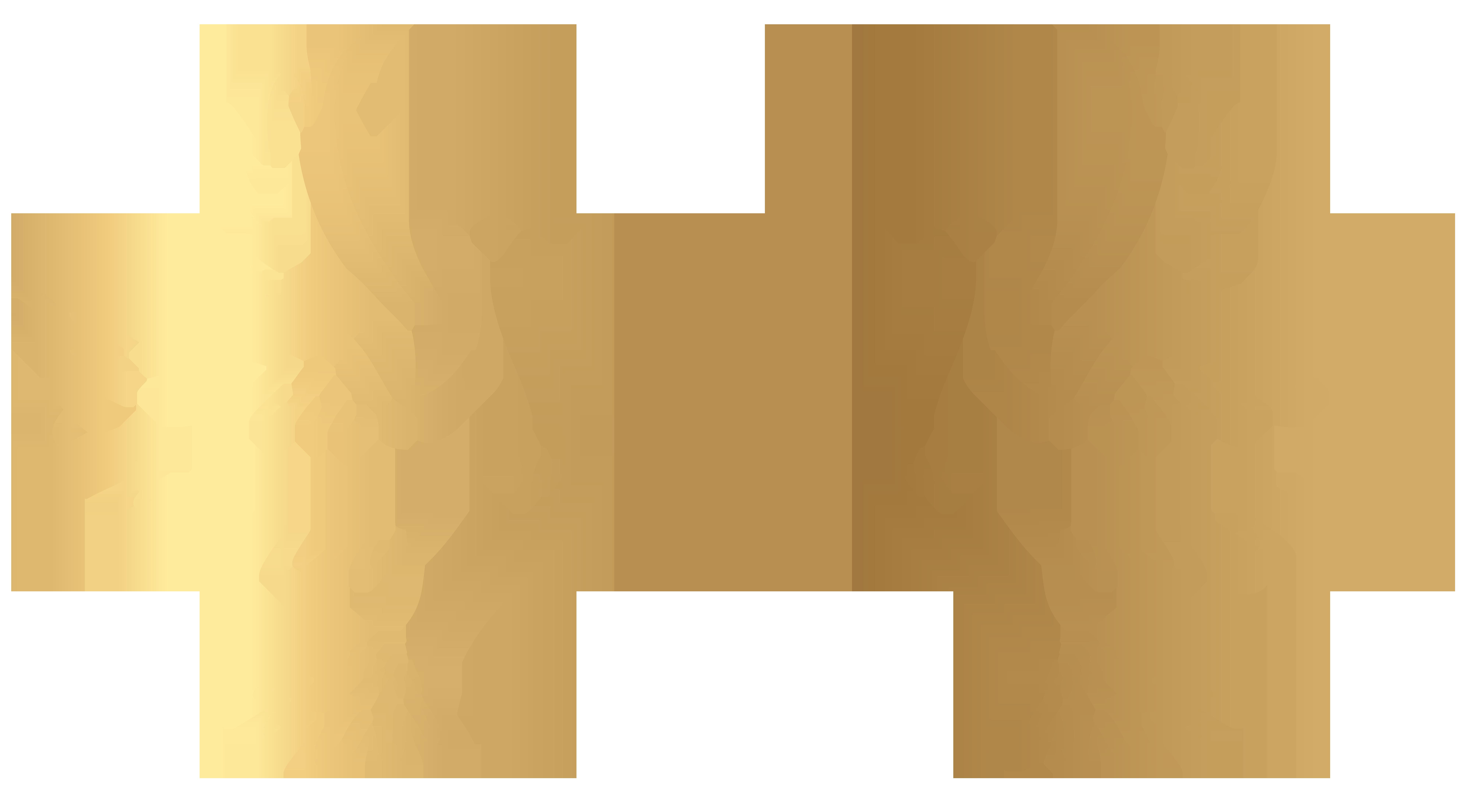 Gold Doves Decoration Transparent PNG Clip Art Image.