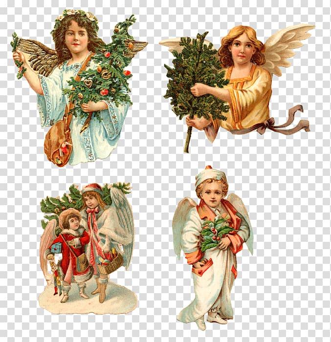Cherub Angel Christmas Easter Bunny , angel transparent.