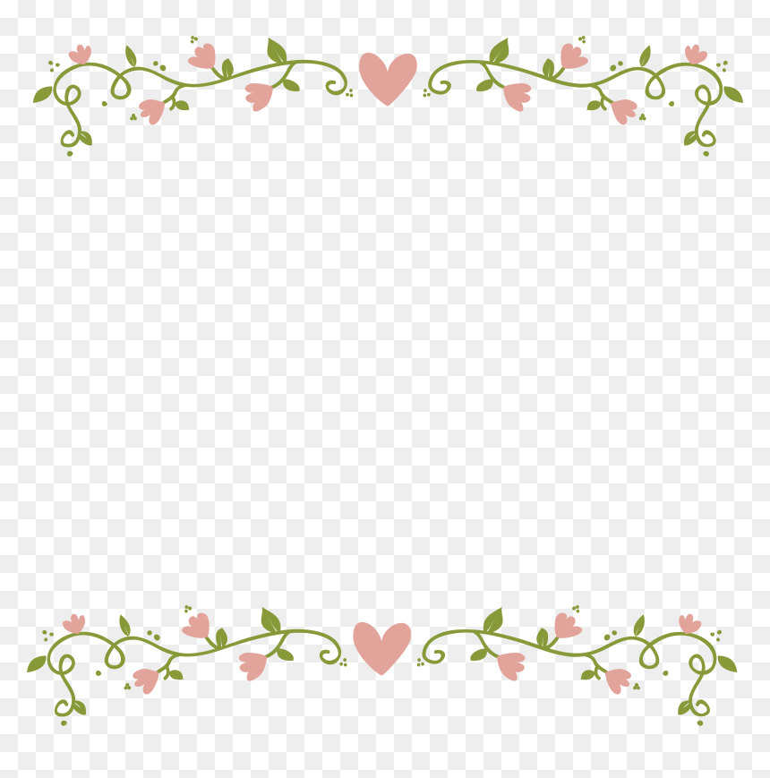 Floral Border Transparent Background , Best Background.