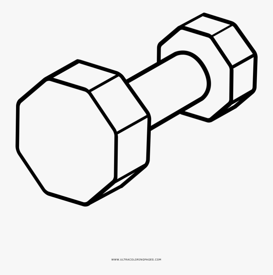 Dumbbell Coloring Page.