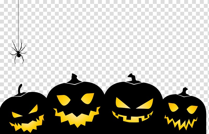 Halloween pumpkin transparent background PNG clipart.