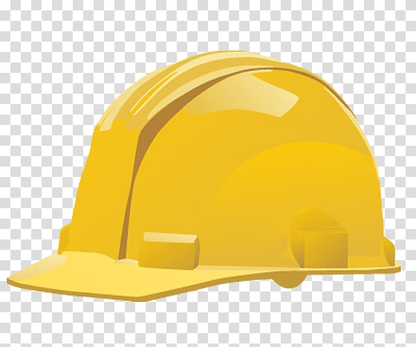 Hard Hats , yellow background transparent background PNG.