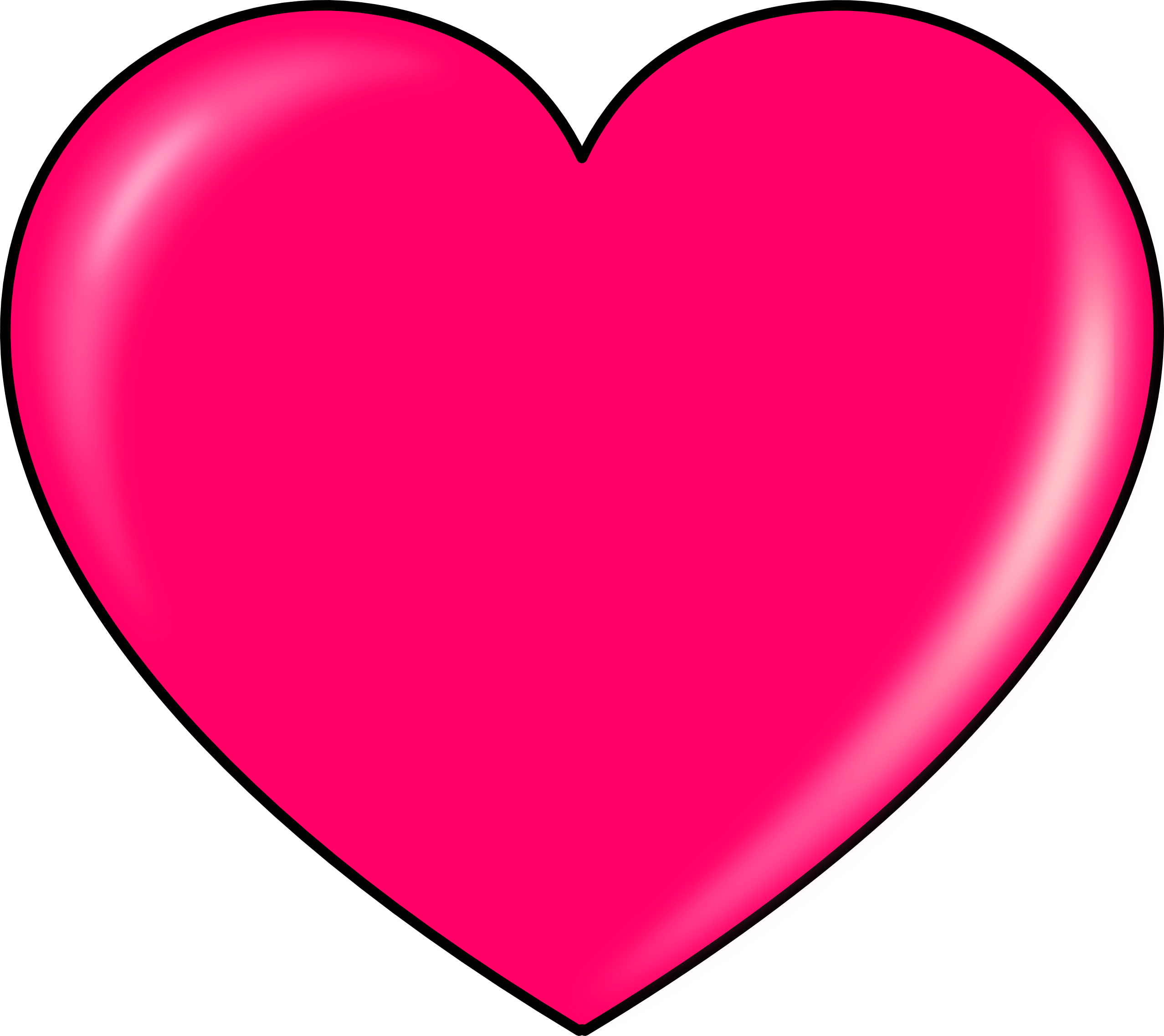 Pink Heart Clipart transparent PNG.
