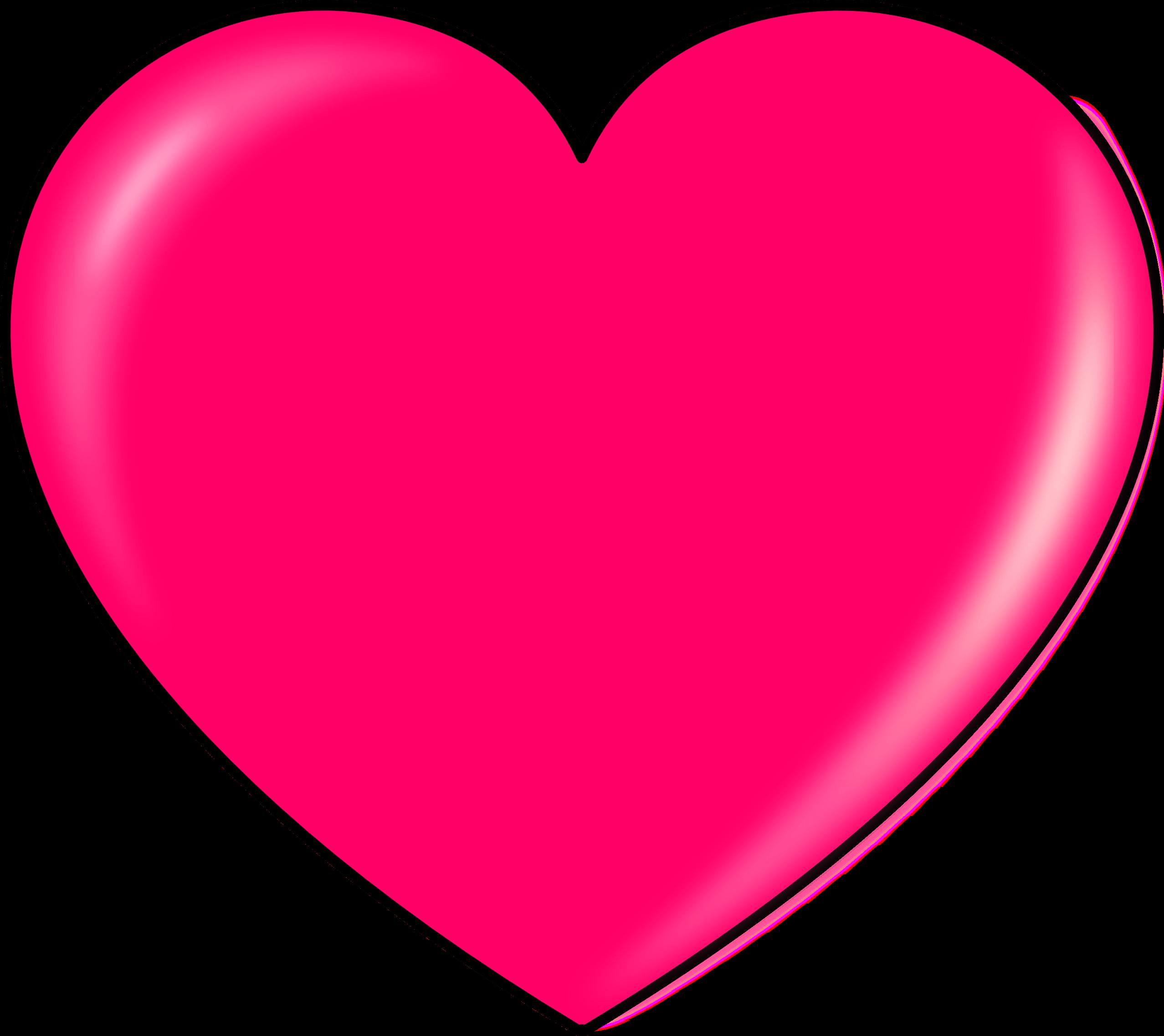 Pink Heart Clipart transparent PNG.