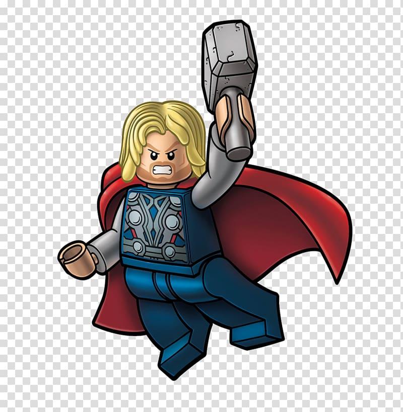 LEGO Thor illustration, Thor Hulk Lego Marvel\\\'s Avengers.