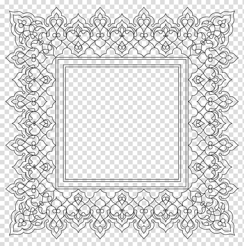 Square black and gray frame , Borders and Frames Ornament.