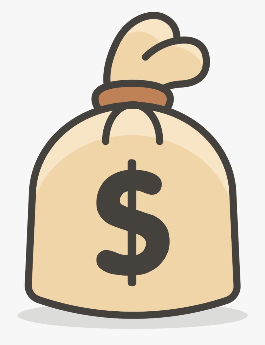 Money Bag Emoji Transparent Background Png , Transparent.