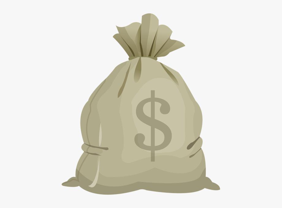 Money Bag Transparent Clip Art Image.