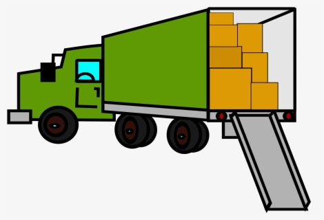 Free Moving Truck Clip Art with No Background.