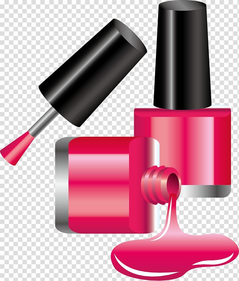 Purple nail polish illustration, Cosmetics Nail polish Icon.