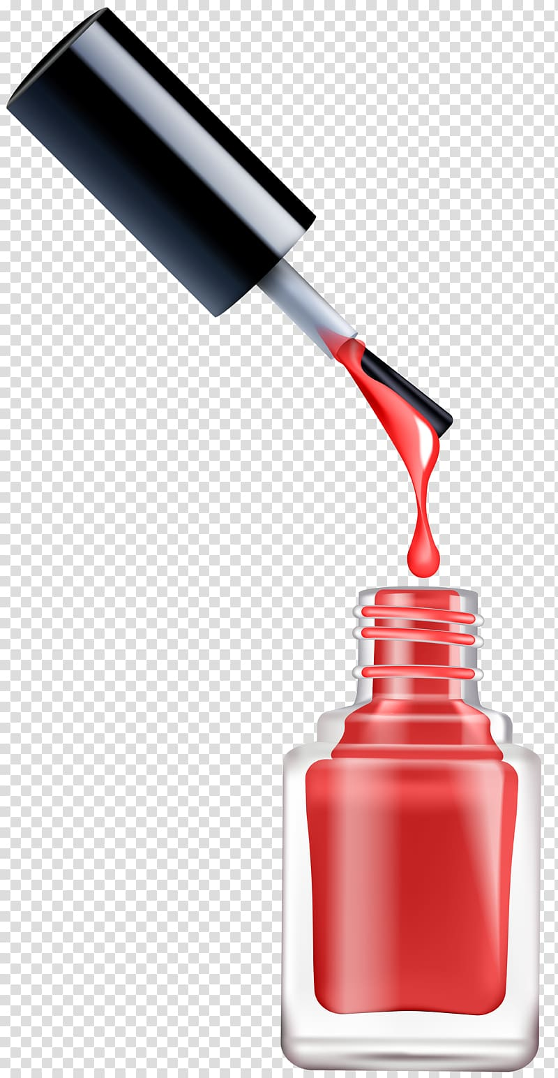 Red nail polisher bottle, Cosmetics Nail Polish , pedicure.