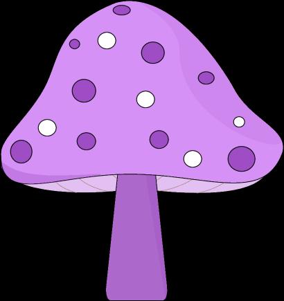 Colorful Mushroom Clipart.
