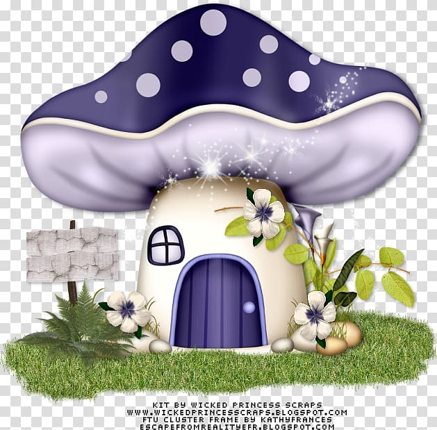 Mushroom Fairy , mushroom house transparent background PNG.