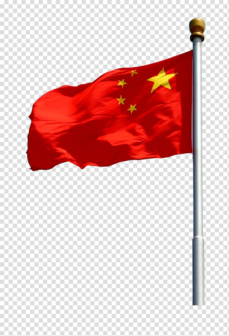Flag of China Red flag, Five Starred Red Flag transparent.