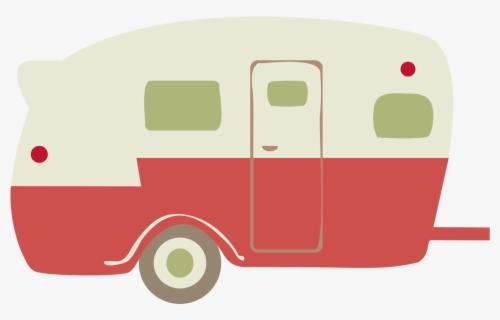 Free Retro Camper Clip Art with No Background.