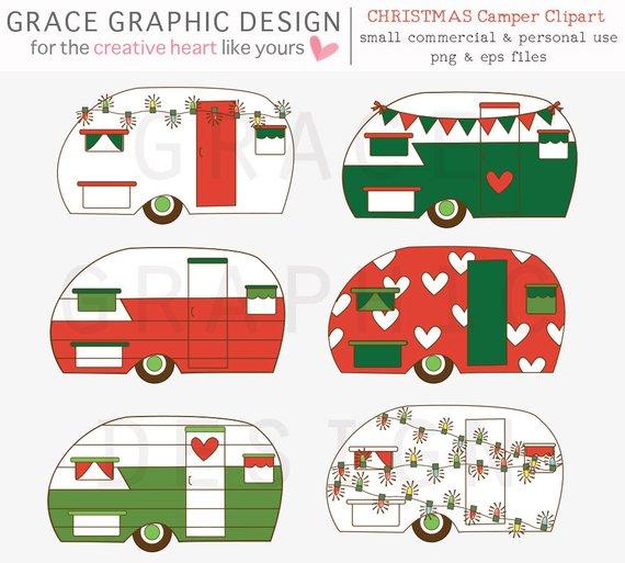 Camper clipart christmas, Camper christmas Transparent FREE.