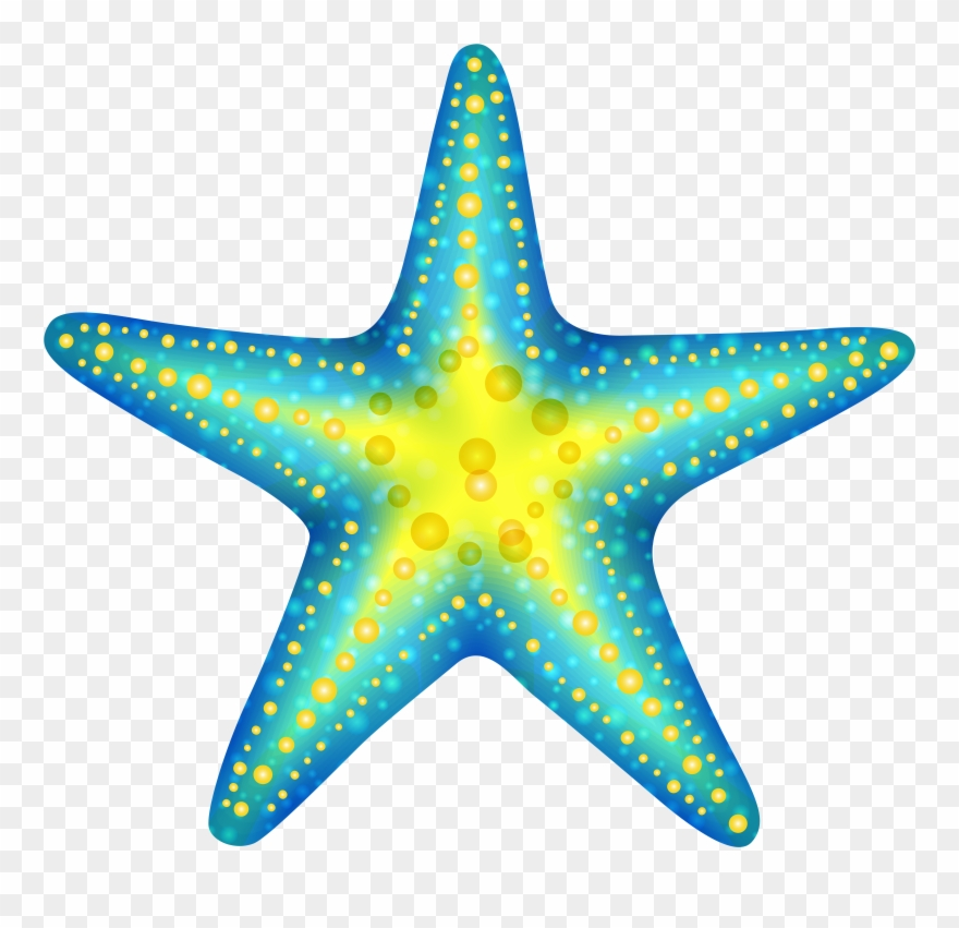 Blue Starfish Png Clip Art.