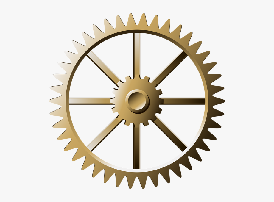 Steampunk Transparent Gears Clipart , Png Download.