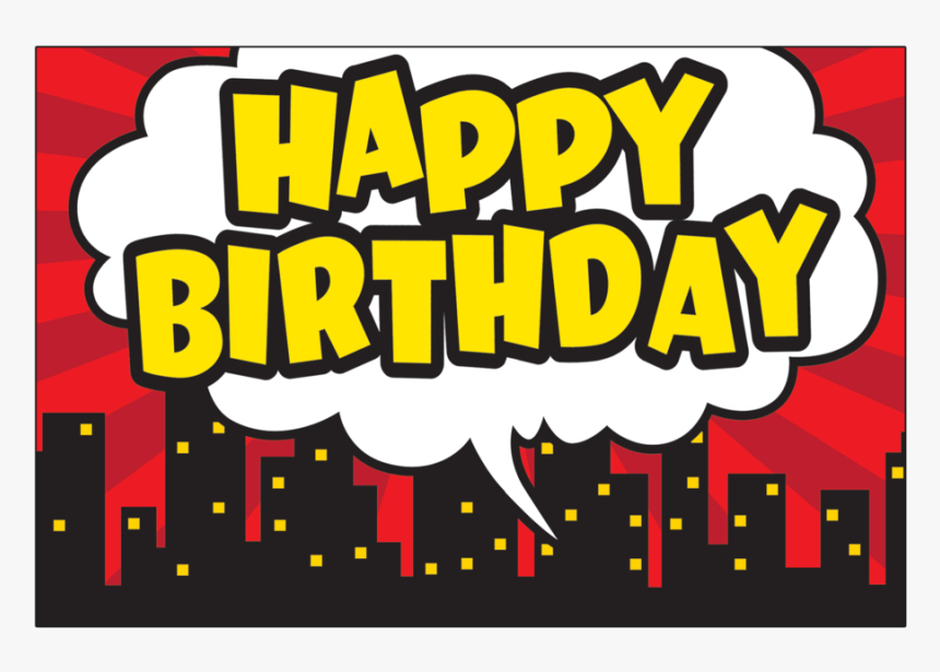 Happy Birthday Banner Superhero, HD Png Download.