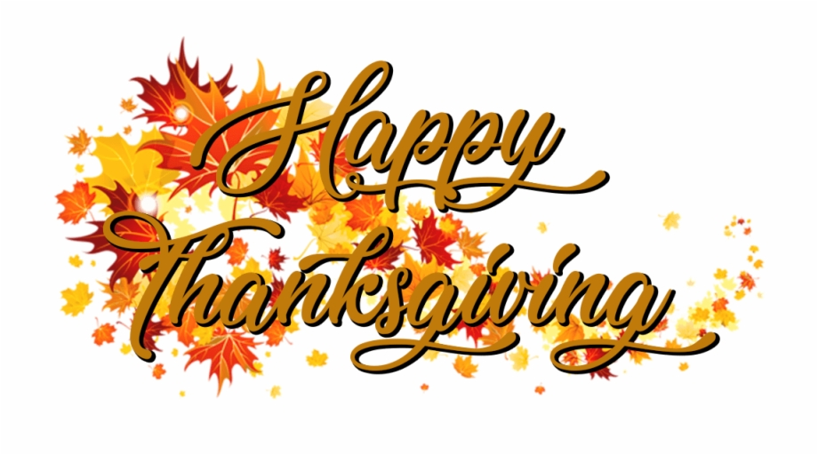 Download Happy Thanksgiving On A Banner Of Autumn Leaves.