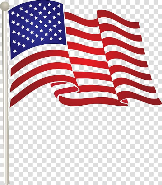 Flag of USA , Illustration American Flag transparent.