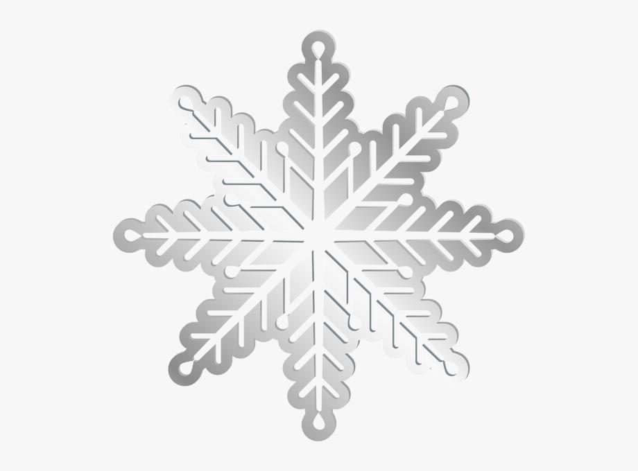 Silver Snowflake Png.