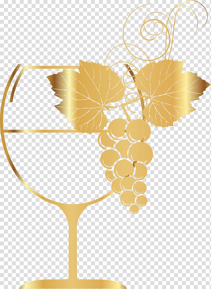 White wine Red Wine Wine glass, Golden Wine Cup transparent.