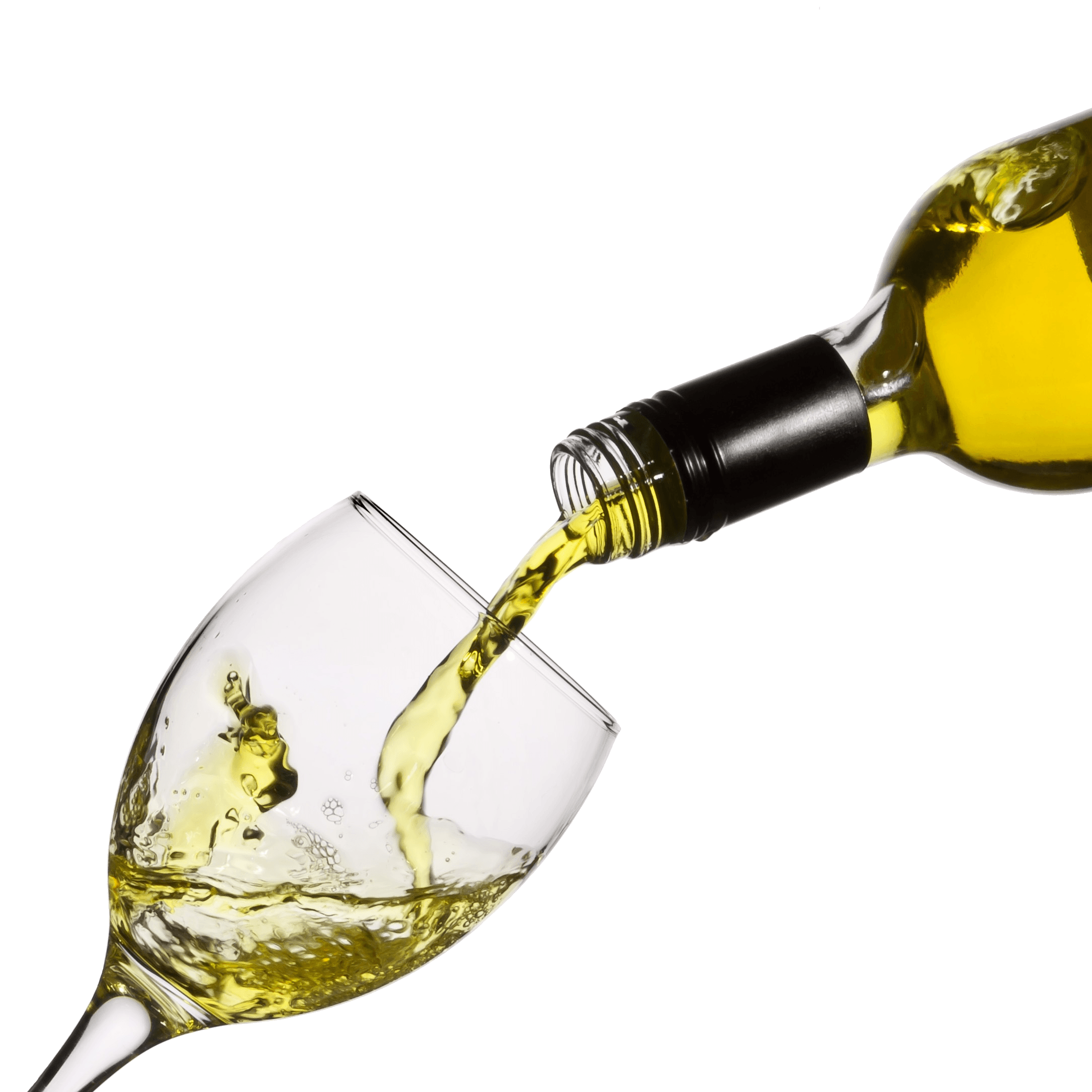 Pouring White Wine Glass transparent PNG.