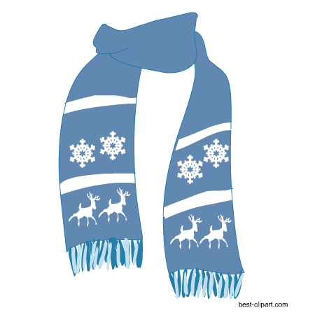 Winter Scarf Clipart.