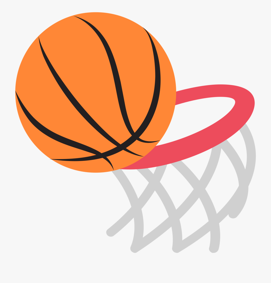 Basketball And Hoop Clipart.