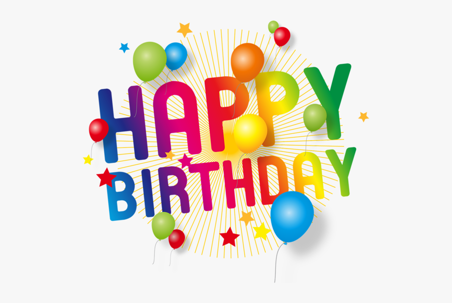 Happy Birthday Transparent Decoration Png Picture.