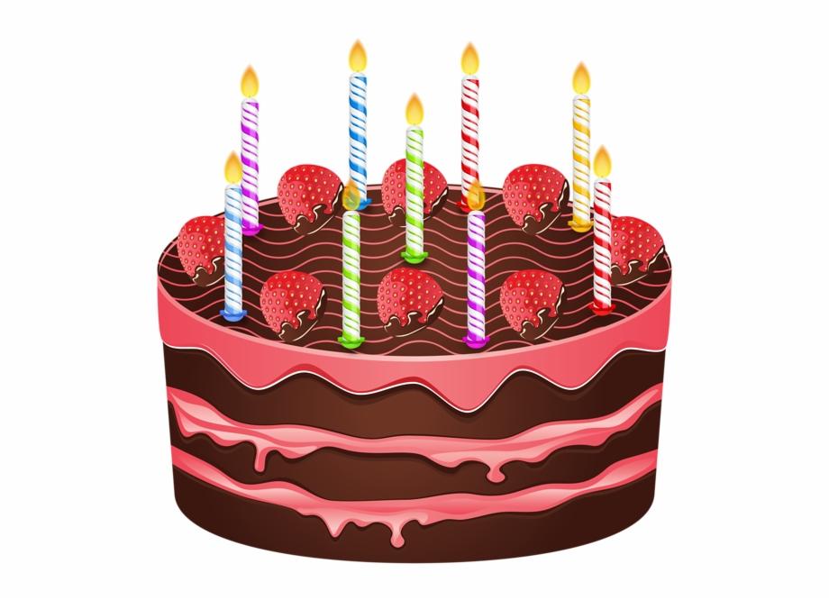 Transparent Birthday Cake.