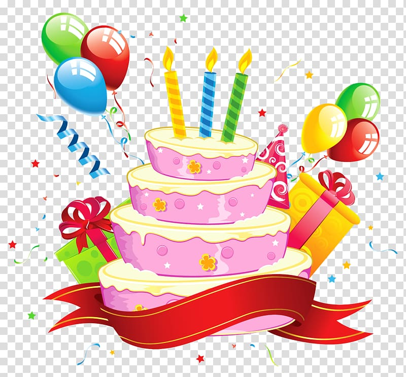 Birthday cake Party , Birthday transparent background PNG.