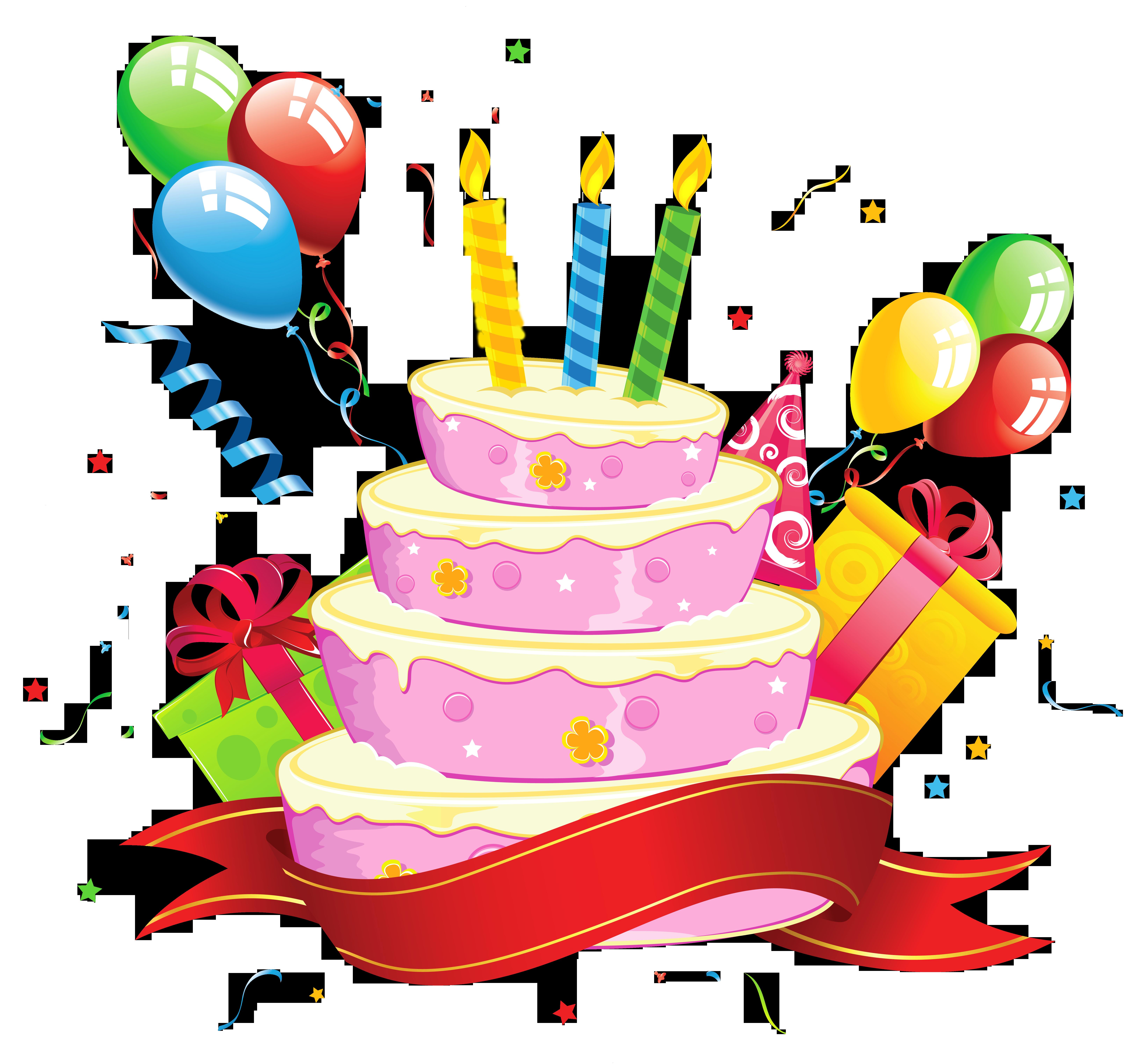 Birthday Cake Transparent Clipart.