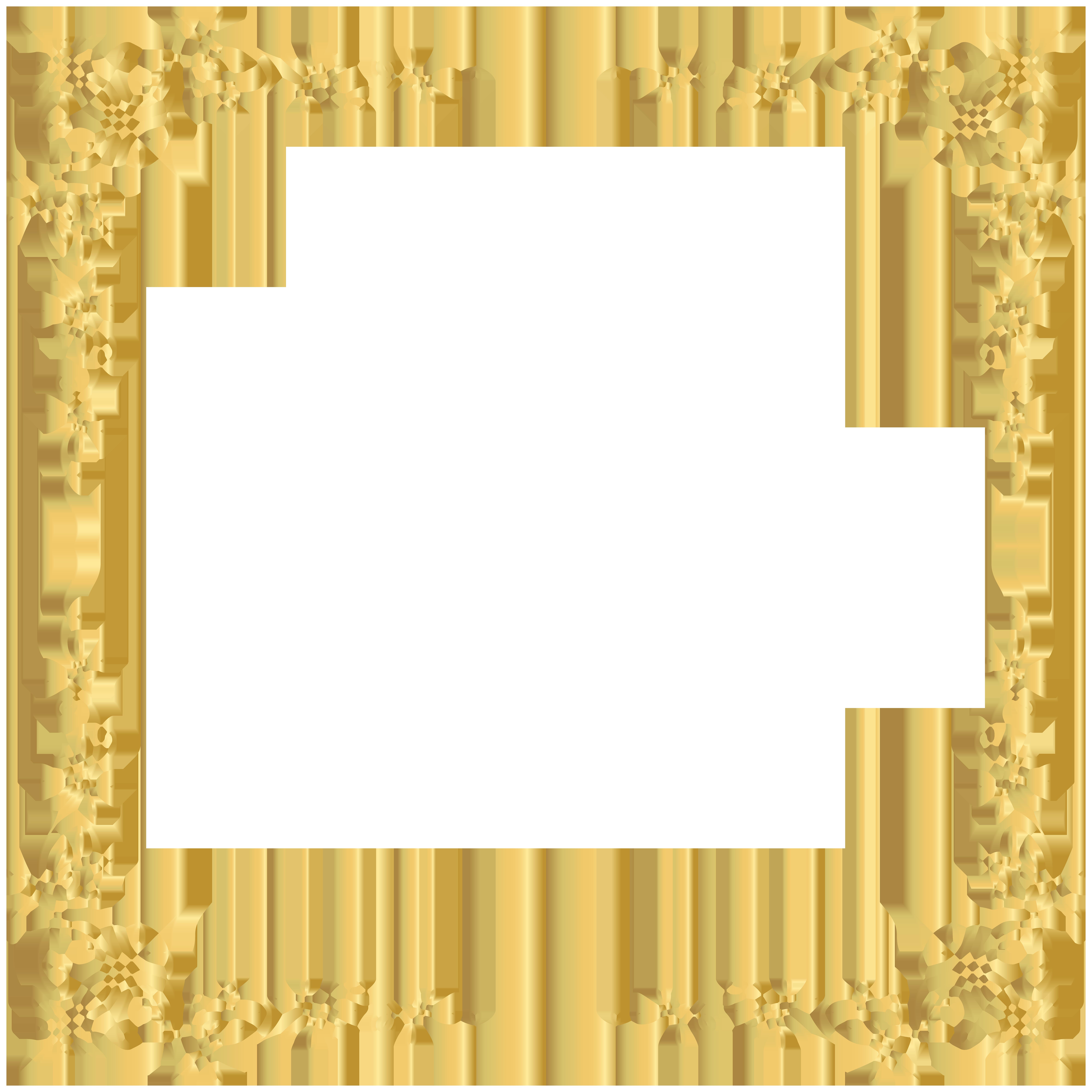 Golden Border Transparent PNG Image.