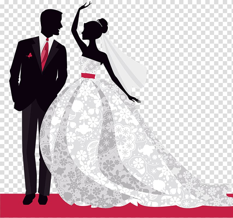 Bride and groom illustration, Wedding invitation Bridegroom.