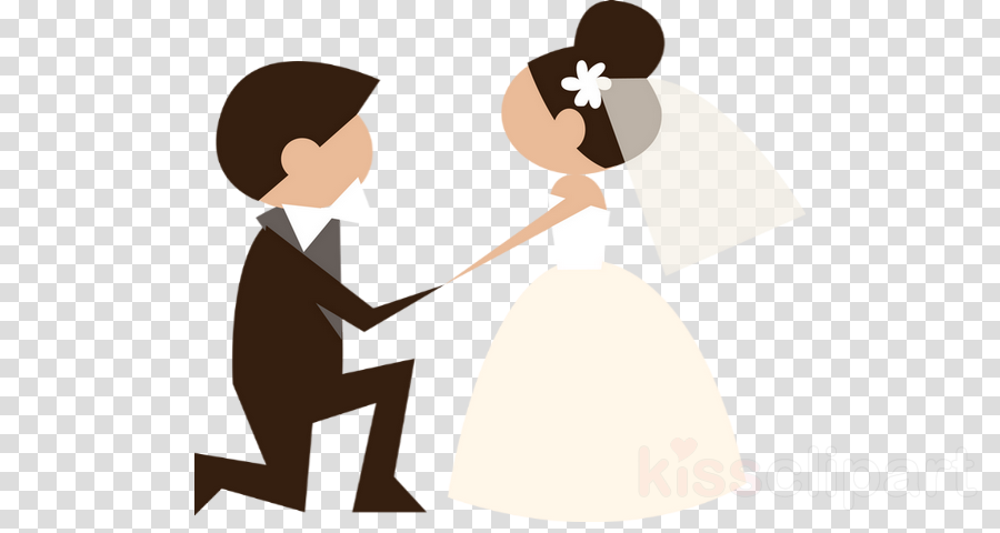 Bride And Groom Cartoon clipart.