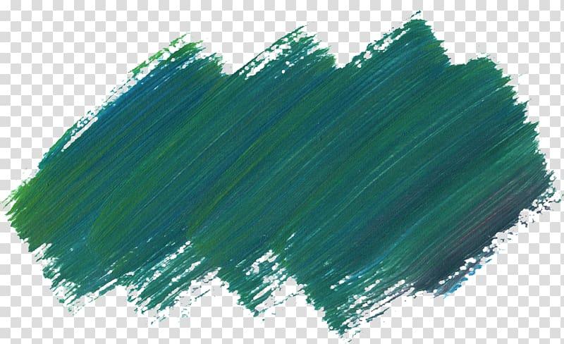 Paintbrush, brush stroke, green artwork transparent.