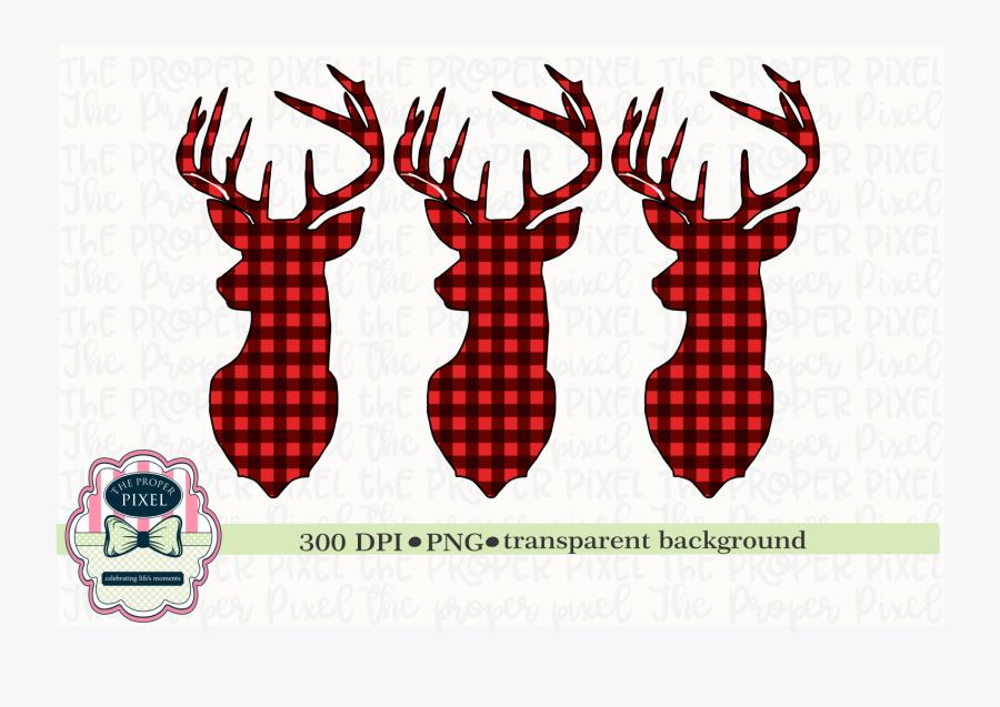 Deer Design Buffalo Plaid Christmas Sublimation Printable.