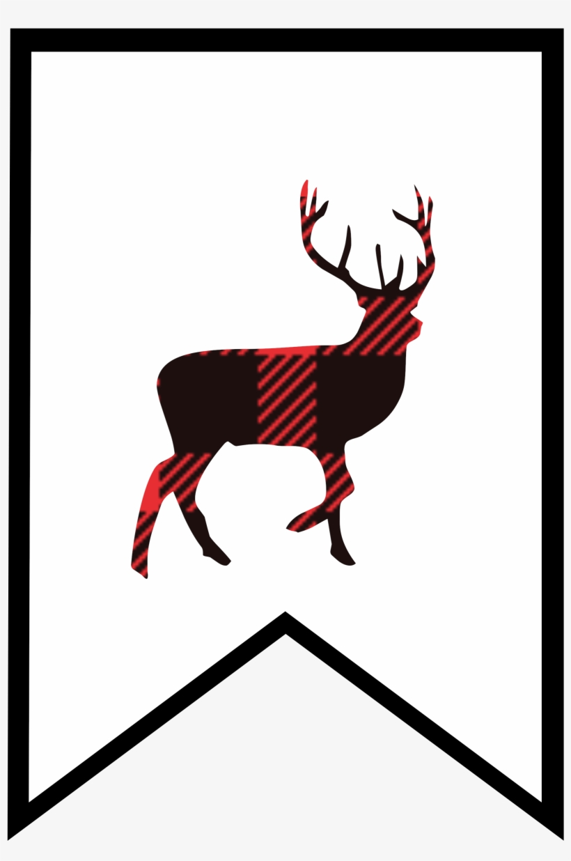 Plaid Clipart Deer.