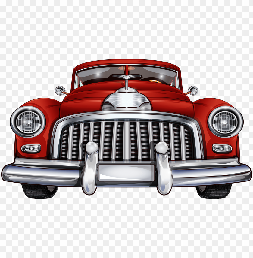 28 collection of red classic car clipart.
