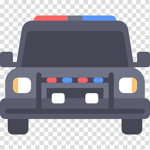 Police car Icon, A police car transparent background PNG.